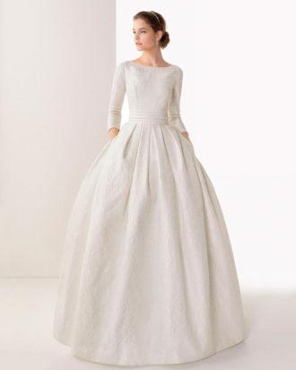 novia con vestido con bolsillos de Rosa Clará