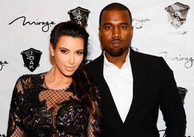 foto de pareja de Kim Kardashian y Kanye West