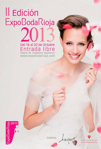 cartel promocional de la feria ExpoBodaRioja 2013