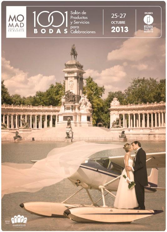 imagen del cartel promocional del salón 1001 bodas 2013 de Madrid