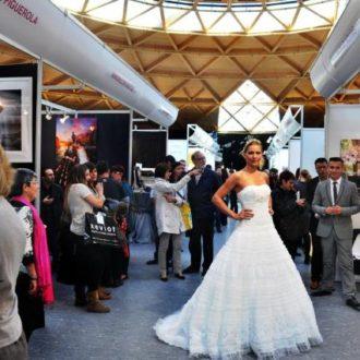 desfile de modelos improvisado en Salón Mi Boda de Barcelona