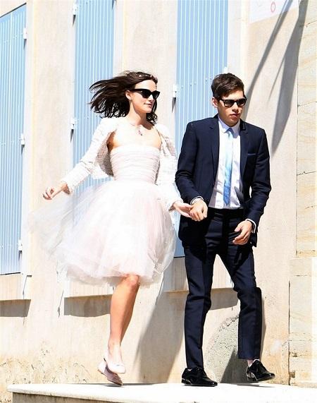 Keira Knightley con su vestido de novia de Chanel