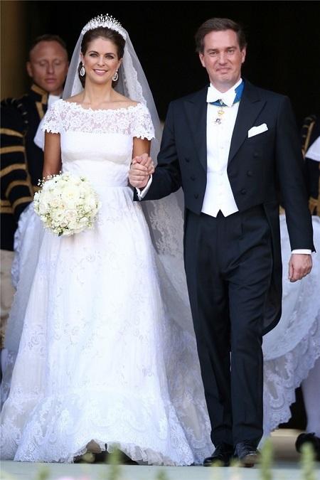Magdalena de Suecia con su vestido de novia de Valentino