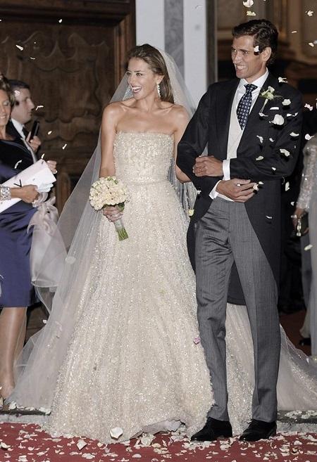 María Colonques con su vestido de novia de Elie Saab