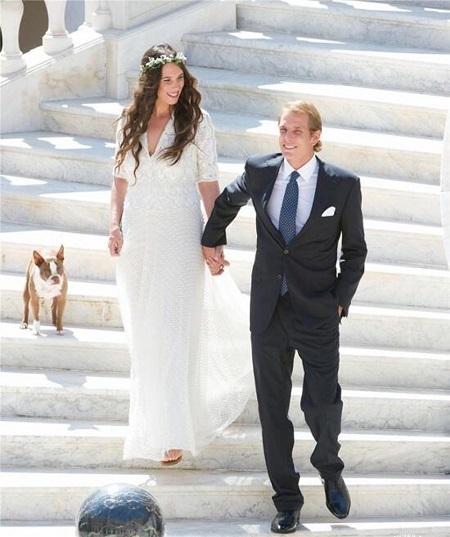 Tatiana Santo Domingo con su vestido de novia de Valentino