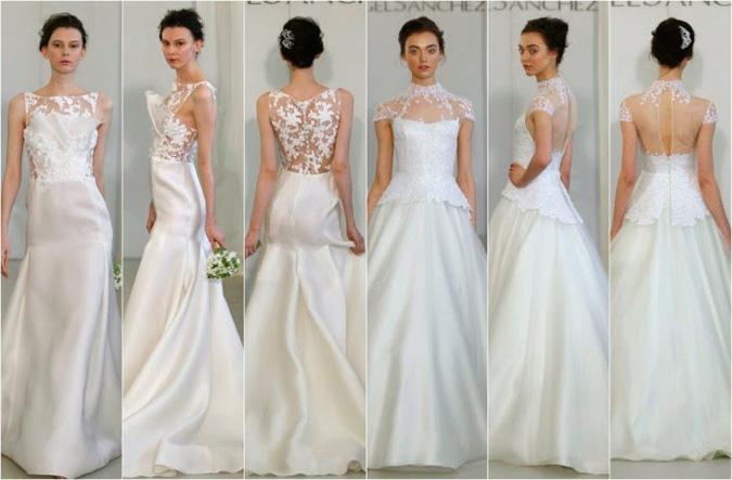 propuestas de vestidos de novia con la espalda al aire libre de Ángel Sánchez