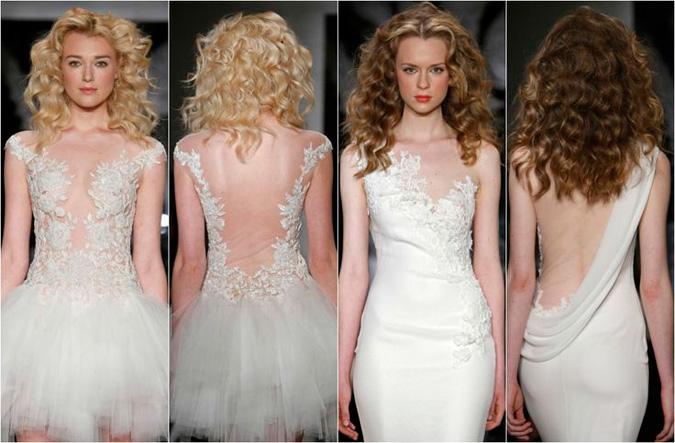 propuestas de vestidos de novia con la espalda al aire libre de Reem Acra