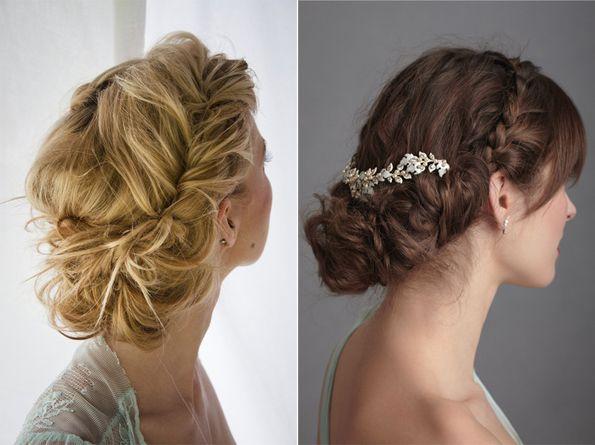 novias con recogidos de pelo sueltos