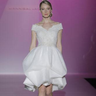 vestido de novia corto de Hannibal Laguna