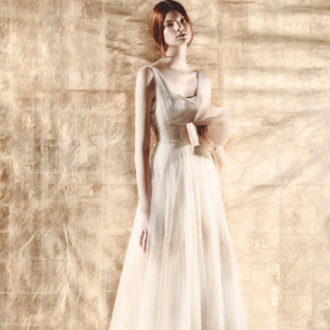 vestido de novia de inspiración romántica
