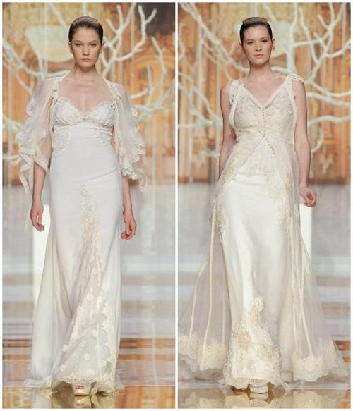 dos propuestas de vestidos de novia lenceros