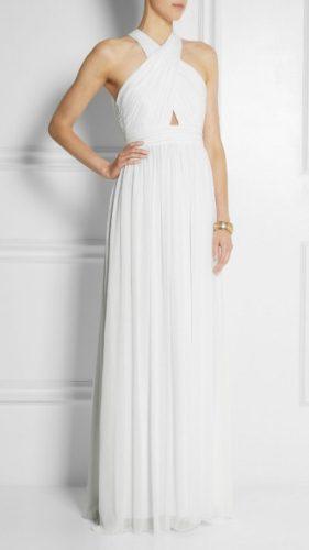 novia con vestido alternativo de corte imperio de Net-A-Porter