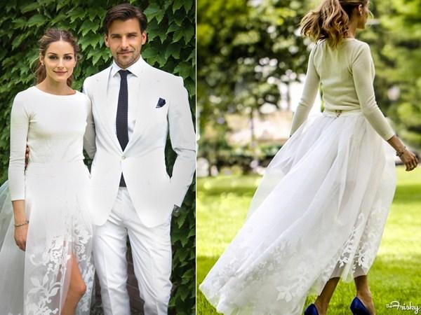 foto de la boda de Olivia Palermo y Johannes Huebl, foto del look de Olivia Palermo