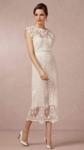 novia con vestido alternativo de BHLDN