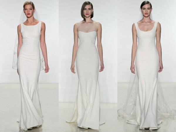 propuestas de vestidos de Amsale en pasarela
