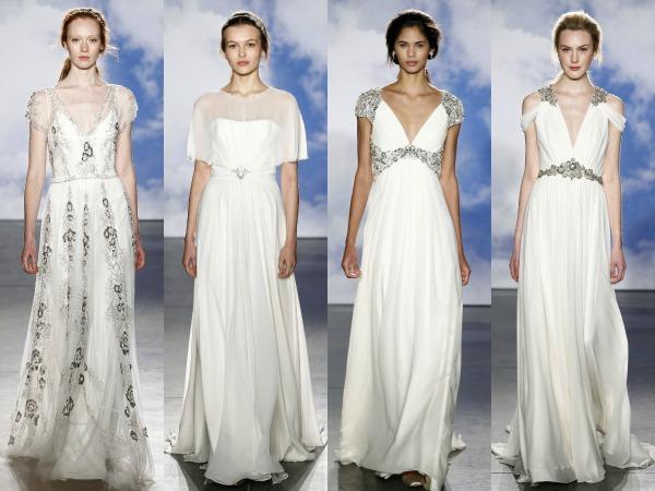 propuestas de vestidos de Jenny Packham en pasarela