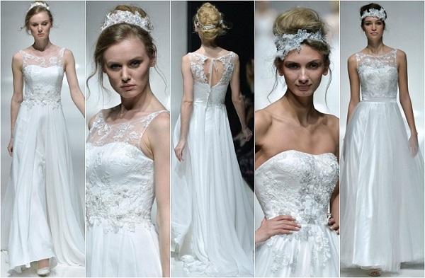 propuestas de vestidos de YolanCris en pasarela