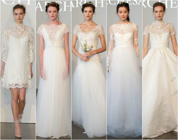 propuestas de vestidos de Marchesa en pasarela