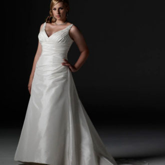 vestido para novia rellenita 2