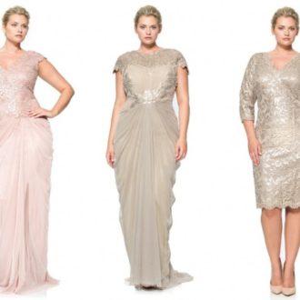 novias rellenitas con diferentes propuestas de vestidos