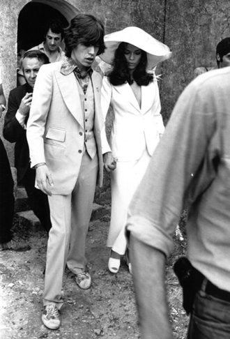 foto de la boda de Bianca Jagger y Mick Jagger