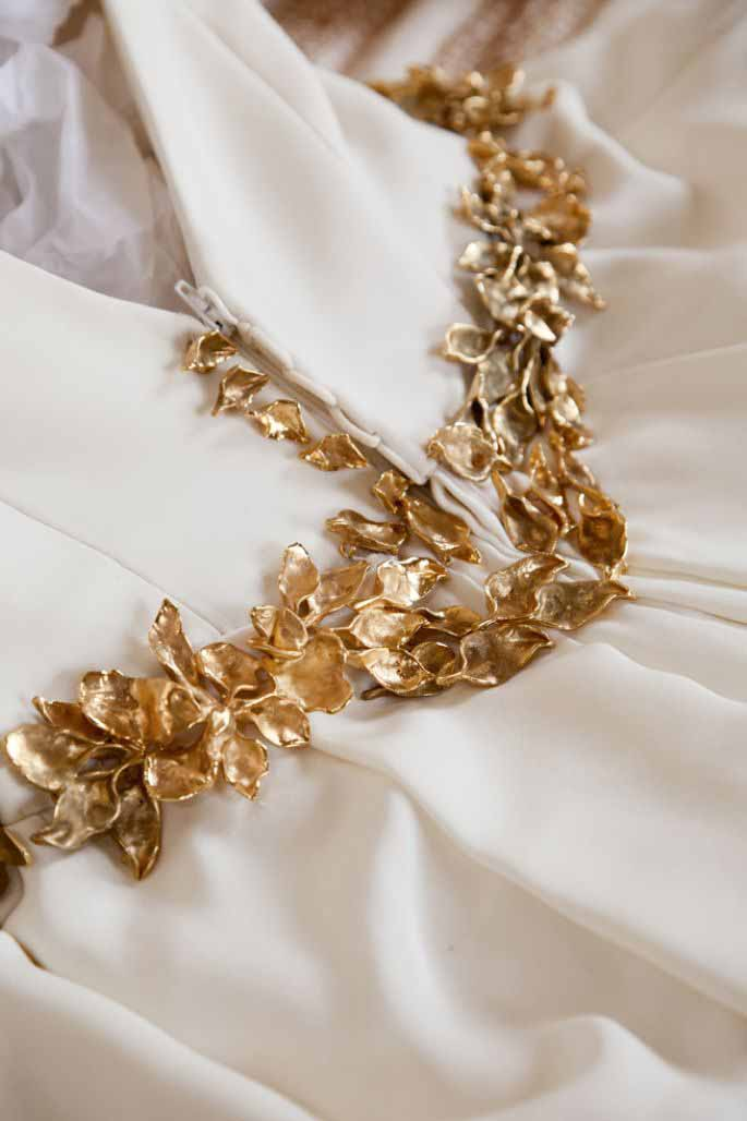 cinturón de novia barroco en bronce y oro