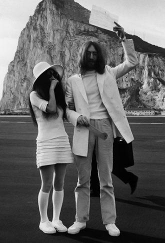 foto de la boda de Yoko Ono y John Lennon