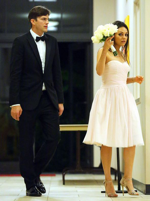 foto de la boda de Ashton Kutcher y Mila Kunis