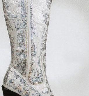 botas cowboy para novia con brillantes