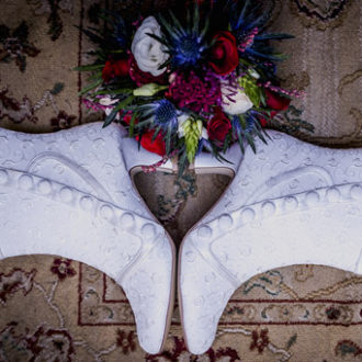bota de caña baja victoriana para novias abotonada