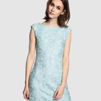 vestido para invitada de boda en color azul