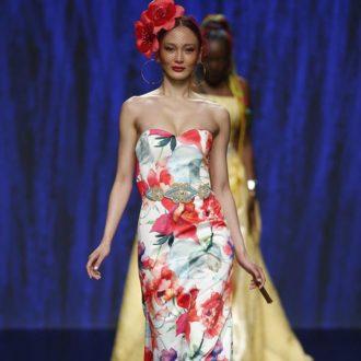 vestido para invitada de boda con estampado floral