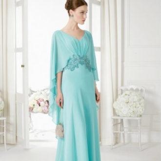vestido para invitada de boda de estilo griego azul