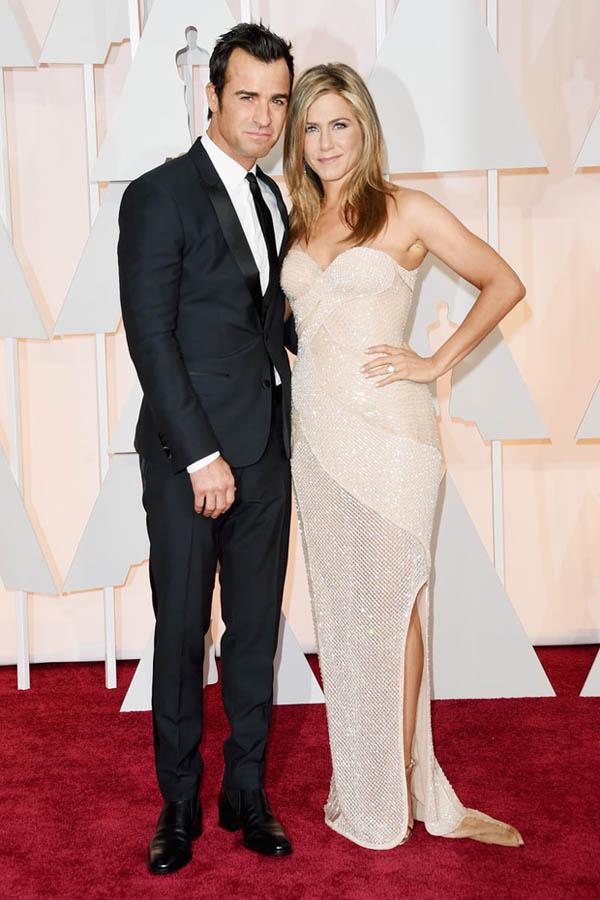 foto de pareja en la entrega de los Oscars de Jennifer Aniston y Justin Theroux