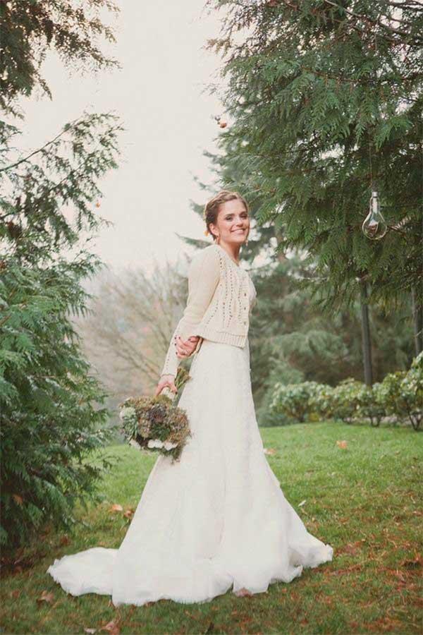 Vestido de novia con jersey
