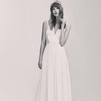 vestido de novia de corte imperio de la colección de Elie Saab