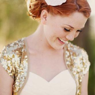 plano medio de novia con torera glitter