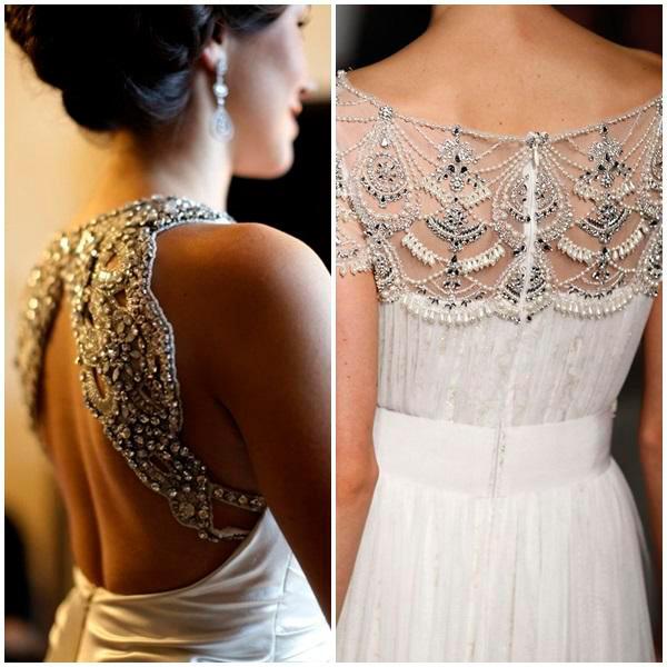 vestidos de novia con espalda de pedreria – vestidos de boda