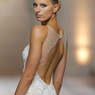 espalda novia vestido sirena