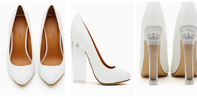 zapatos de novia con tacón de metacrilato