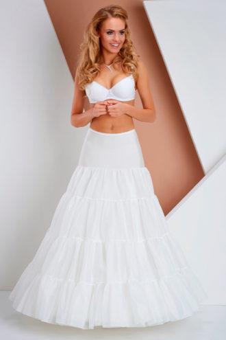 novia con cancán para vestido con volumen