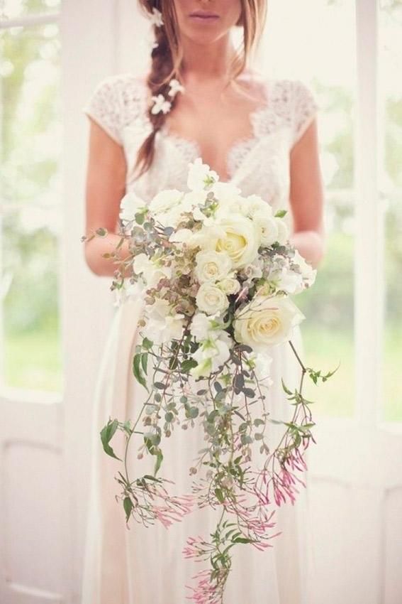 las flores de novia según el vestido, el pelo y el estilo
