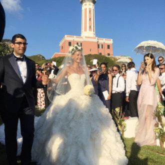Giovanna Battaglia sorprendió a todos sus invitados con su look