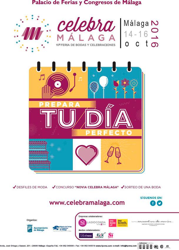 cartel promocional de Celebra Málaga