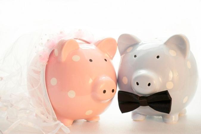 huchas en forma de cerdo para ahorrar para la boda