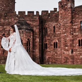 foto de pareja de la boda de Ciara y Russell Wilson