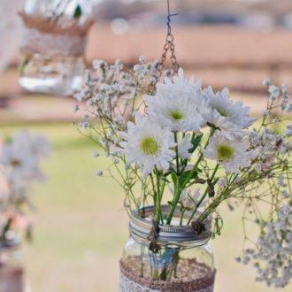 decoración hecha a mano para boda