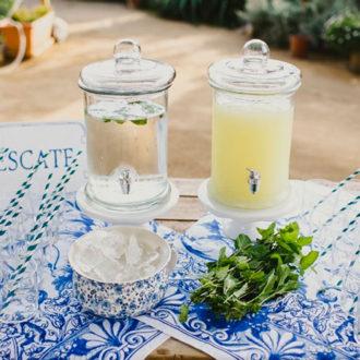 limonada para evitar calor en boda