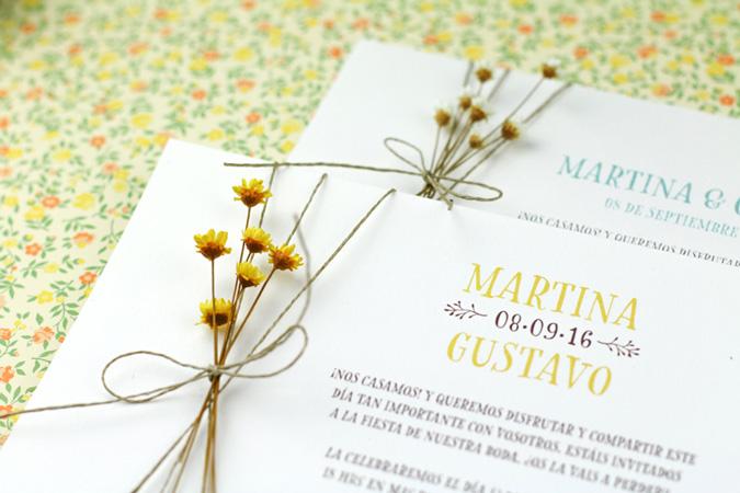 invitación para boda low cost