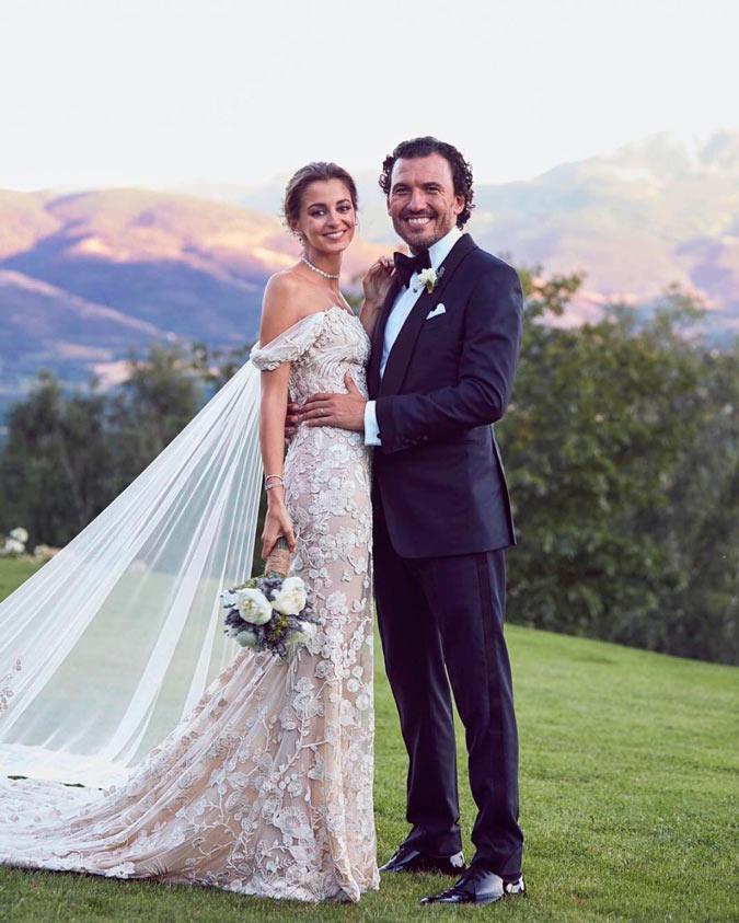 foto de pareja de Gabriela Palatchi y Ediz Elhadef en su boda